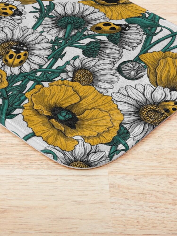 Alternate view of The meadow in yellow Bath Mat