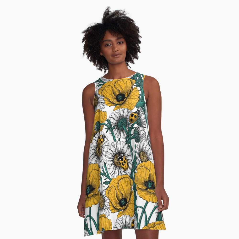 The meadow in yellow A-Line Dress