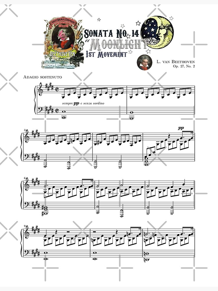 "Beethoven Piano Sonata No.14 ""Moonlight"" 1st Movement Music Sheet by AnimalComposers"