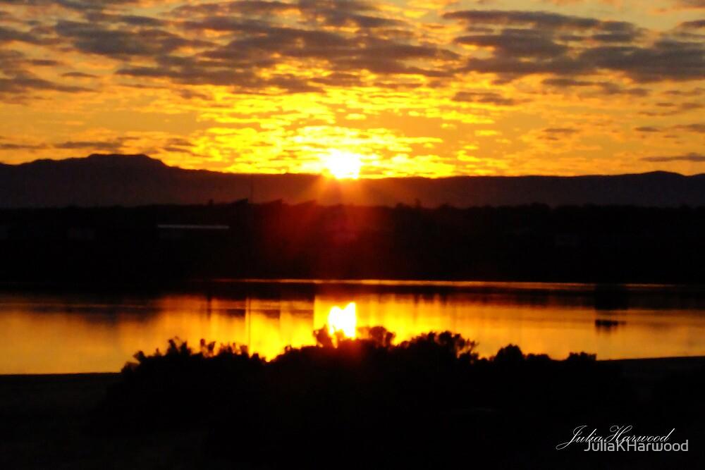 Sunrise over Port Augusta by Julia Harwood