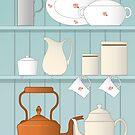 Vintage Kitchen Illustration by NataliePaskell
