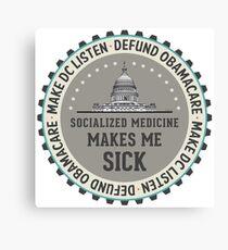 Defund Obamacare Canvas Print