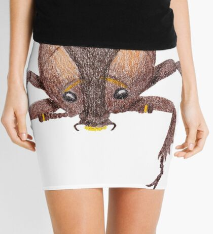 Japanese Rrhinoceros Beetle Mini Skirt