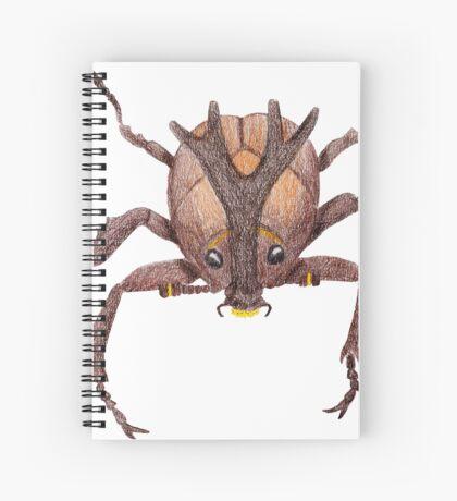 Japanese Rrhinoceros Beetle Spiral Notebook