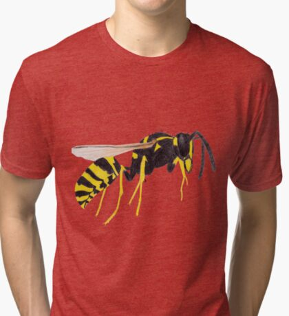 Paper Wasp Tri-blend T-Shirt