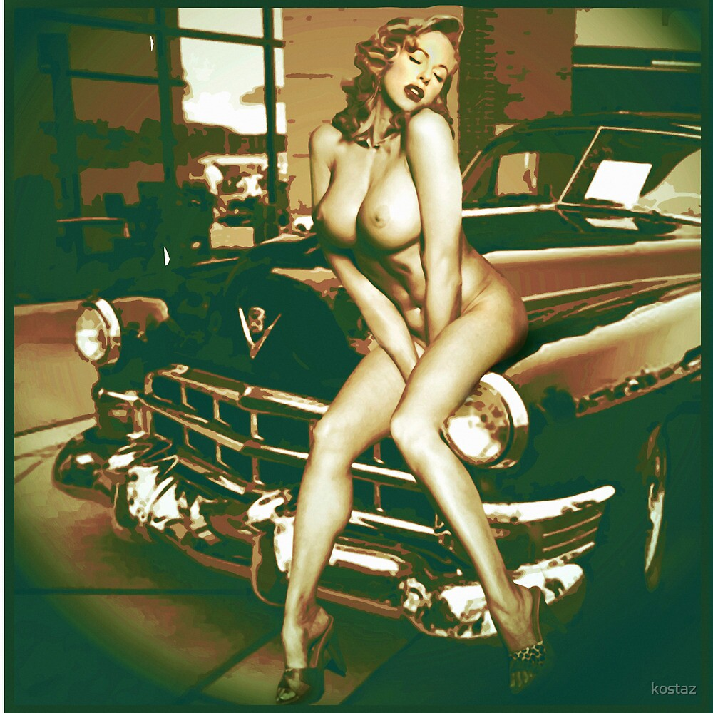 marilyn on a cadillac by kostaz