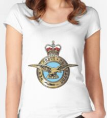 Royal Air Force Badge Women's Fitted Scoop T-Shirt
