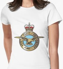 Royal Air Force Badge Womens Fitted T-Shirt