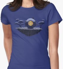 Floating Diver Home Sweet Home Women's Fitted T-Shirt