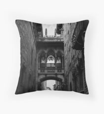 Barcelona, the Gothic Quarter  Throw Pillow