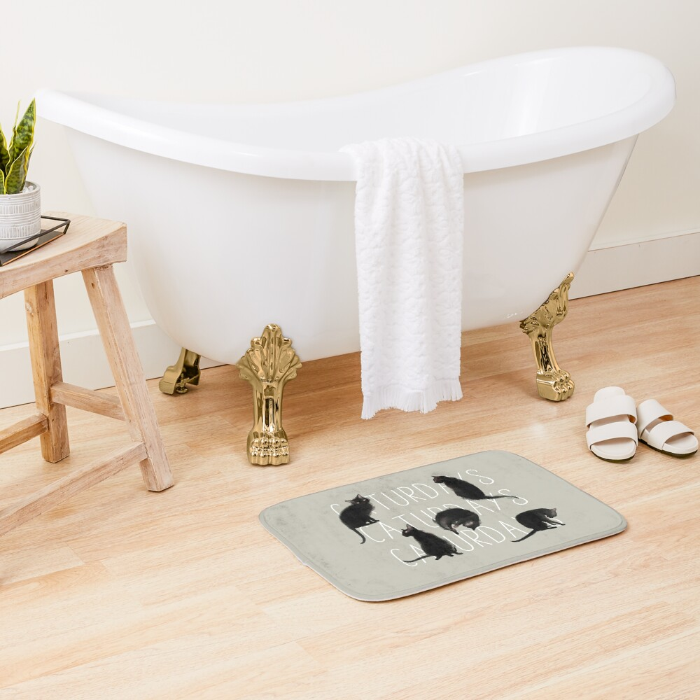 Caturdays - Black Cat Bath Mat