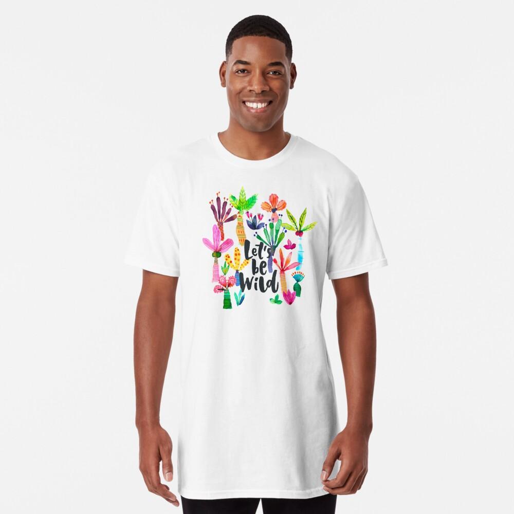 Jungle tropical garden - Fun palms pattern Long T-Shirt