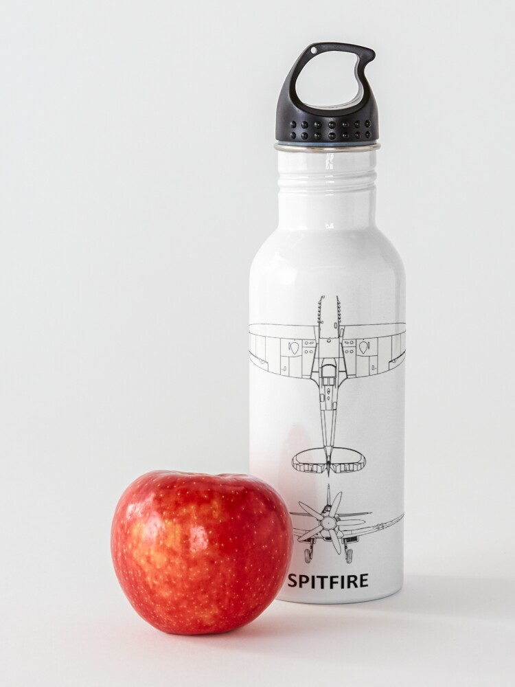 Alternate view of The Spitfire Blueprint Water Bottle