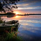 Sunrise, Lake of Menteith, Trossachs by David Mould