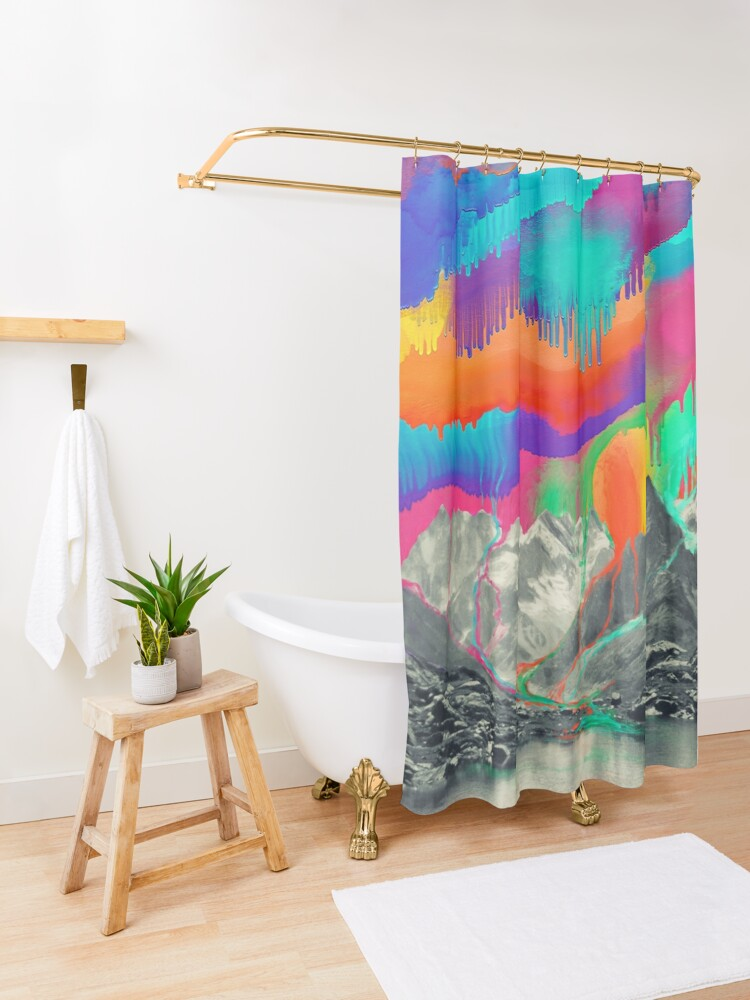 Alternate view of Skyfall, Melting Northern Lights Shower Curtain