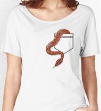 Brazilian Rainbow Boa in Pocket Teeshirt. Light Design Women's Relaxed Fit T-Shirt