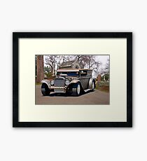 Rat Rod Panel 'Crypt Cruz'r' Framed Print