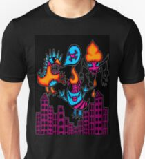 monsters in the city black T-Shirt