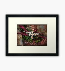 Flower - Seat Reserved Framed Print