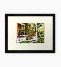 Houses - Victorian - Come stay with us  Framed Print