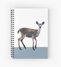 Deer on Slate Blue Spiral Notebook