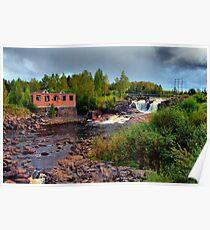 Waterfall Munkfors Poster