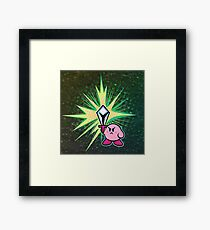 Kirby Sword Framed Print