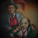 Two Old Clowns by Pam Humbargar
