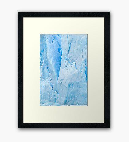Glacial Abstract Framed Print