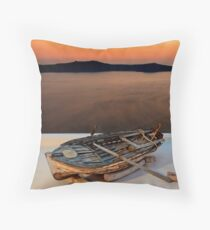 The boat has landed Throw Pillow