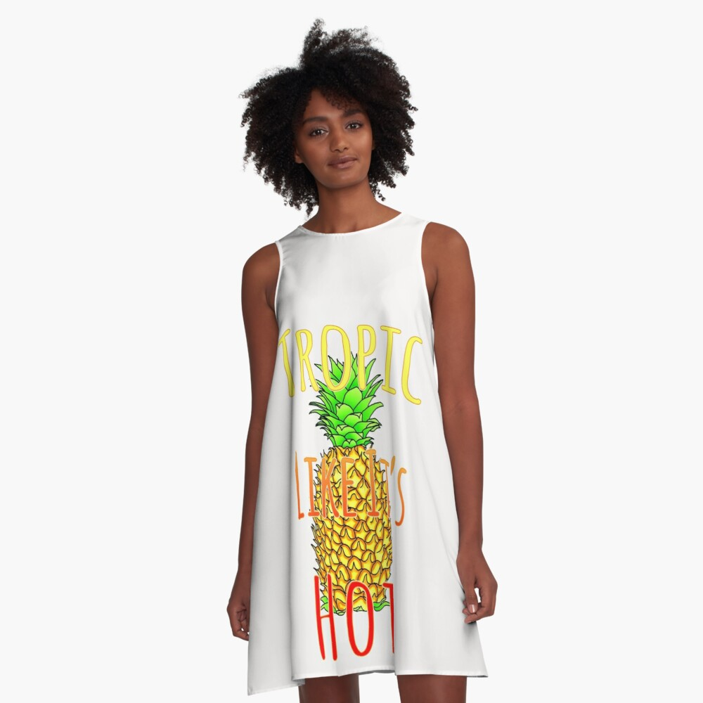Tropic Like Its Hot Pineapple A-Linien Kleid