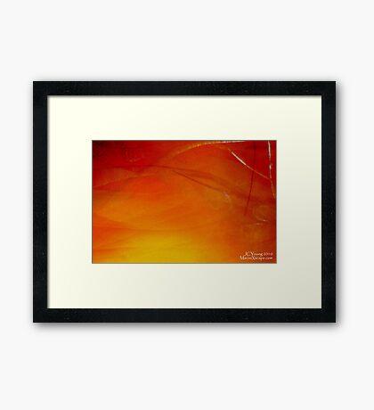 A Red Dawn Framed Print