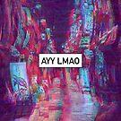 Tokyo Glitch Vaporwave Street (Ayy Lmao) by Glyphz