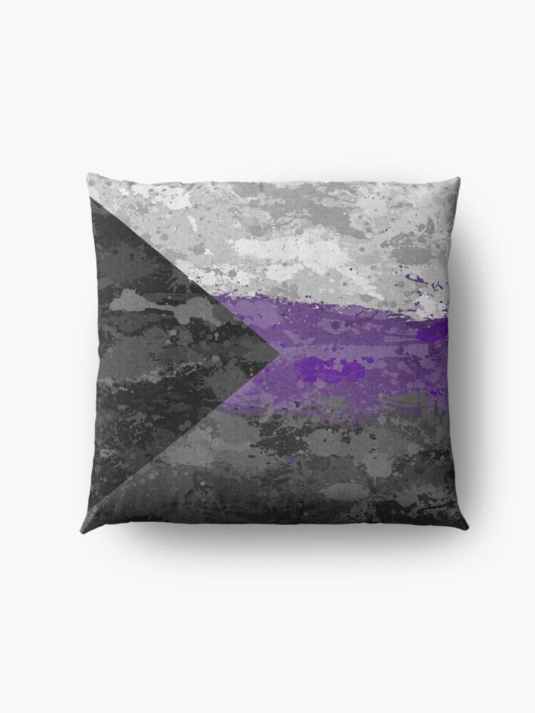 Alternate view of Demisexual Paint Splatter Flag Floor Pillow