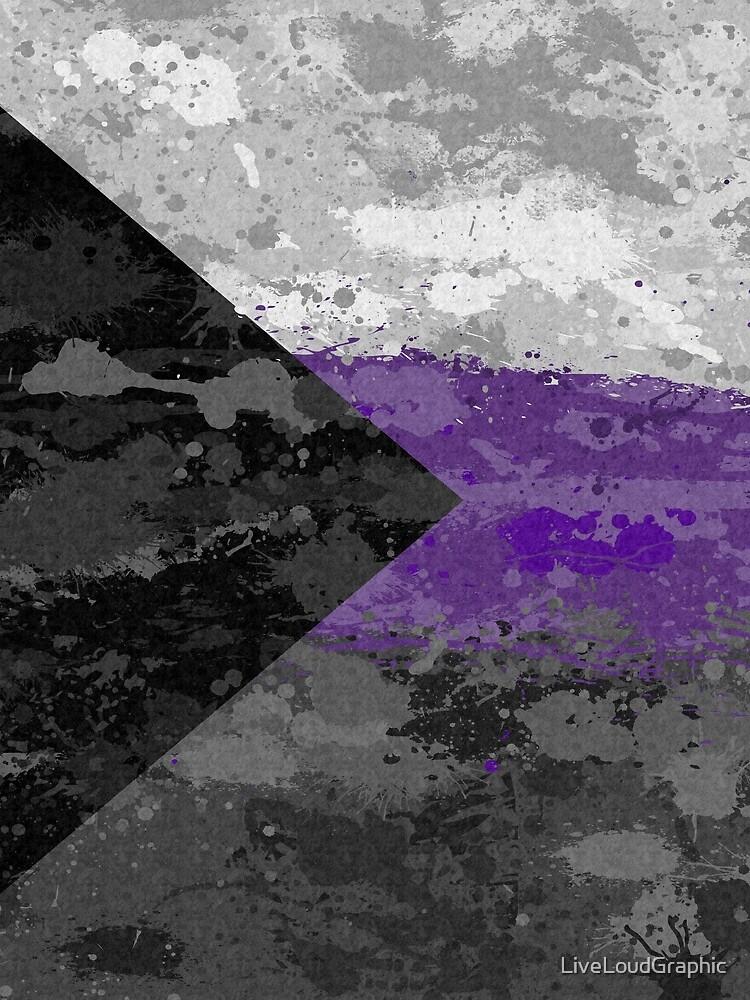 Demisexual Paint Splatter Flag by LiveLoudGraphic