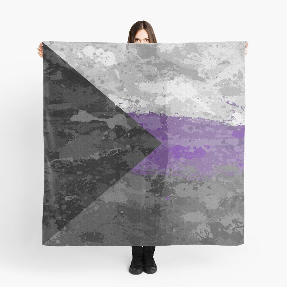 Demisexual Paint Splatter Flag Scarf