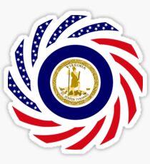 Virginian Murican Patriot Flag Series Sticker