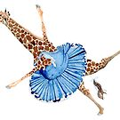 Ballet Dancing Giraffe by AuntieBetty