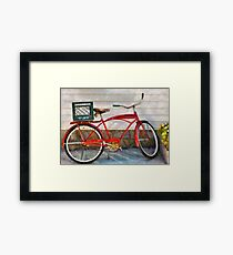 Bike - Delivery Bike Framed Print