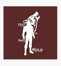 Witcher - Fear The White Wolf Photographic Print