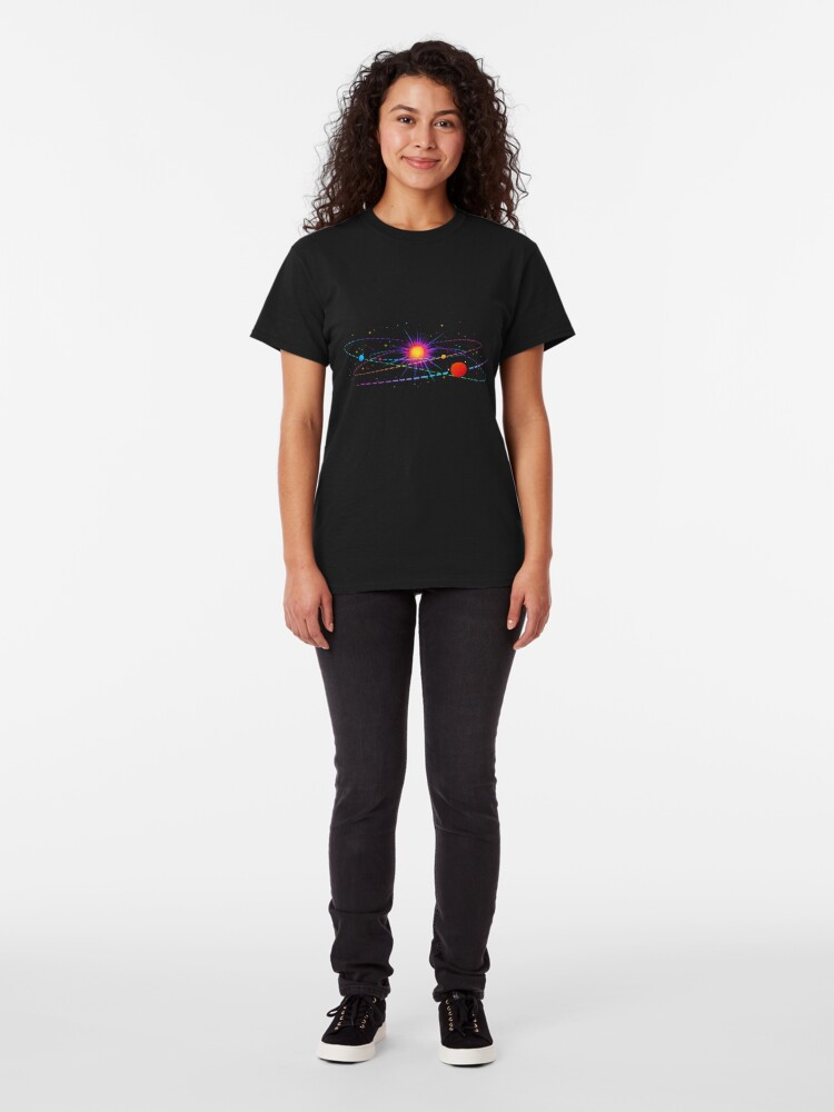 """Alternate view of """"You're Already Part of Something Ridiculous and Wonderful"""" Solar System Classic T-Shirt"""