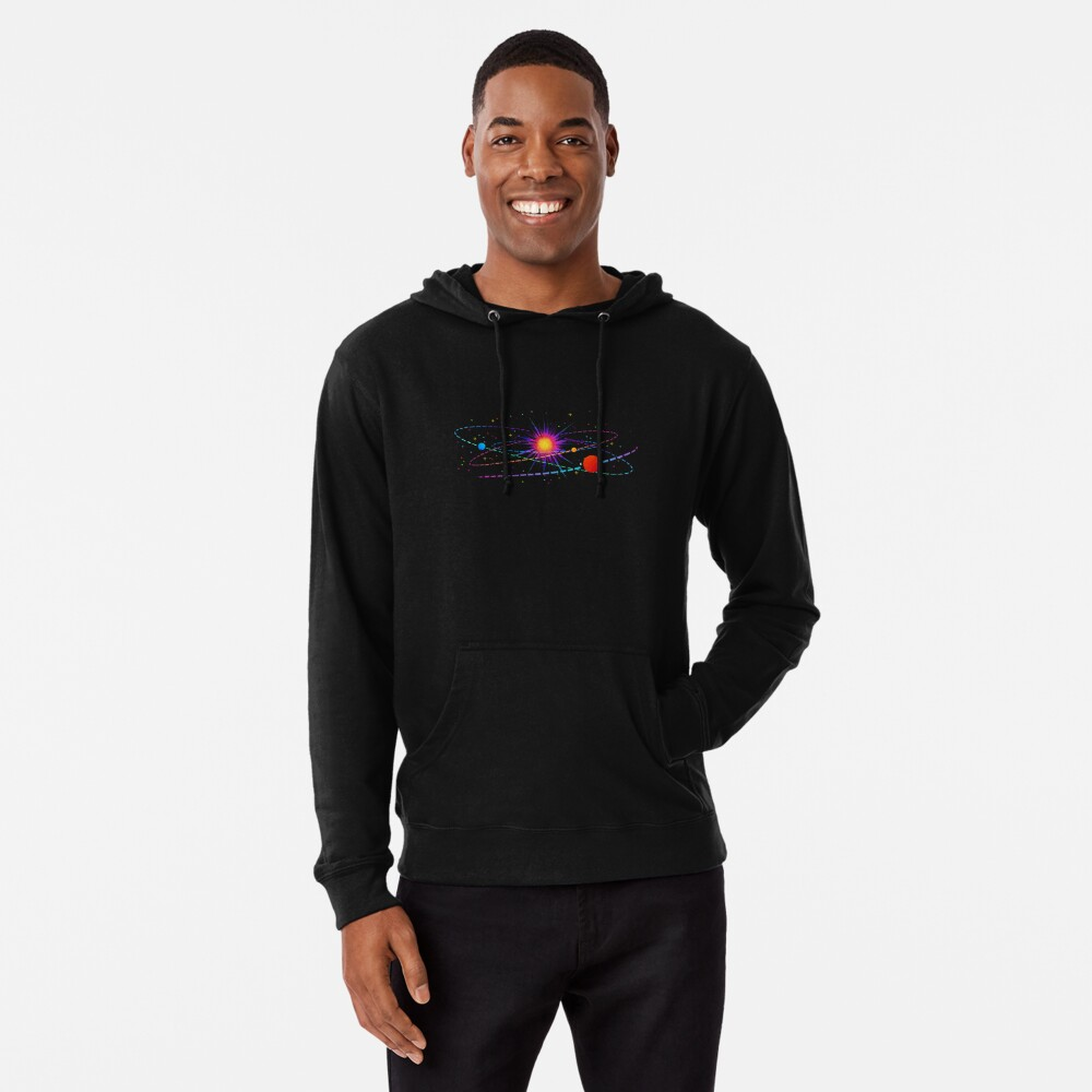 """You're Already Part of Something Ridiculous and Wonderful"" Solar System Lightweight Hoodie"