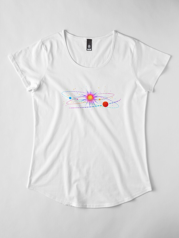 """Alternate view of """"You're Already Part of Something Ridiculous and Wonderful"""" Solar System Premium Scoop T-Shirt"""