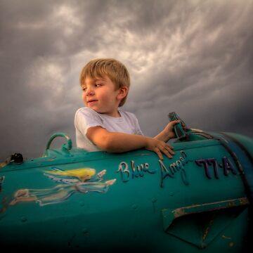 Toddler Top Gun by boblarsonphoto