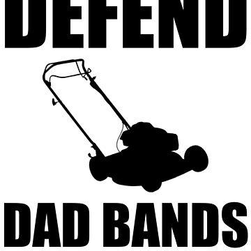 Defend Dad Bands - Black by sharkyj