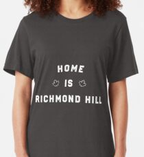 Home is Richmond Hill Canada Slim Fit T-Shirt