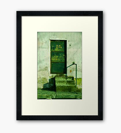 Who built these steps, anyway?!! Framed Print