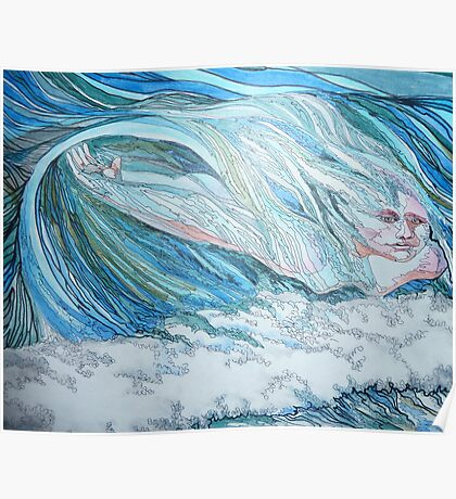 I Love to Catch a wave Poster