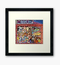 The Blue Sax Framed Print