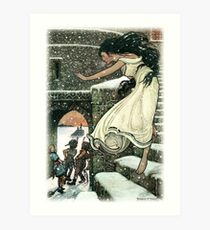THE PRINCESS RAN WITH HER FEET ALL BARE OUT INTO THE OPEN from The Russian Story Book  Art Print